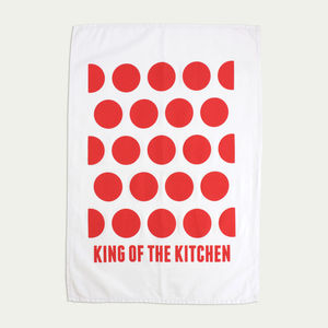 'King Of The Kitchen' Tea Towel - kitchen accessories