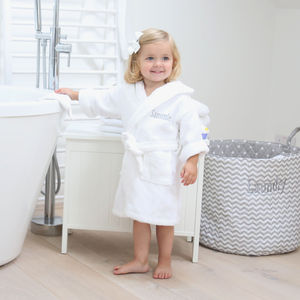 Personalised Hooded Towelling Robe - bathtime