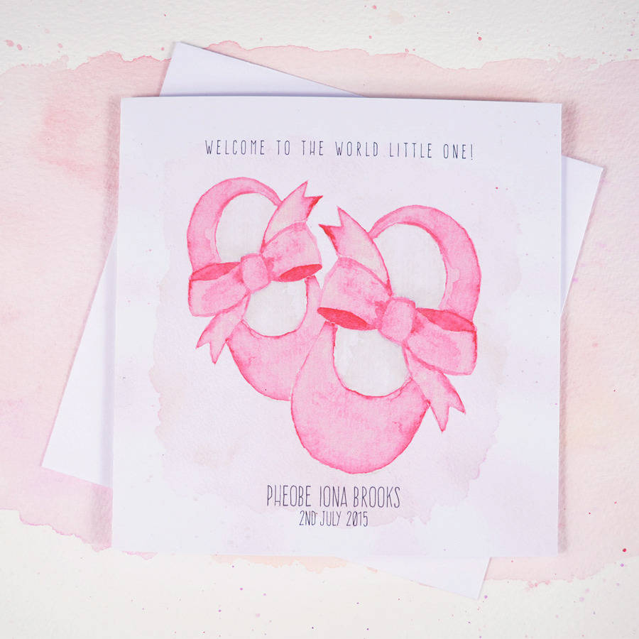 personalised baby girl congratulations card