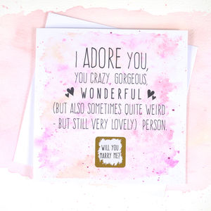 Personalised Will You Marry Me Proposal Scratch Card - funny cards