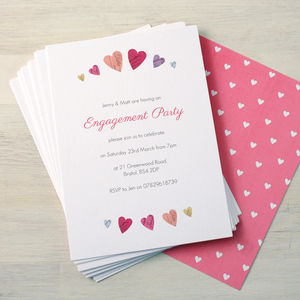 Personalised Engagement Party Invitations - wedding stationery