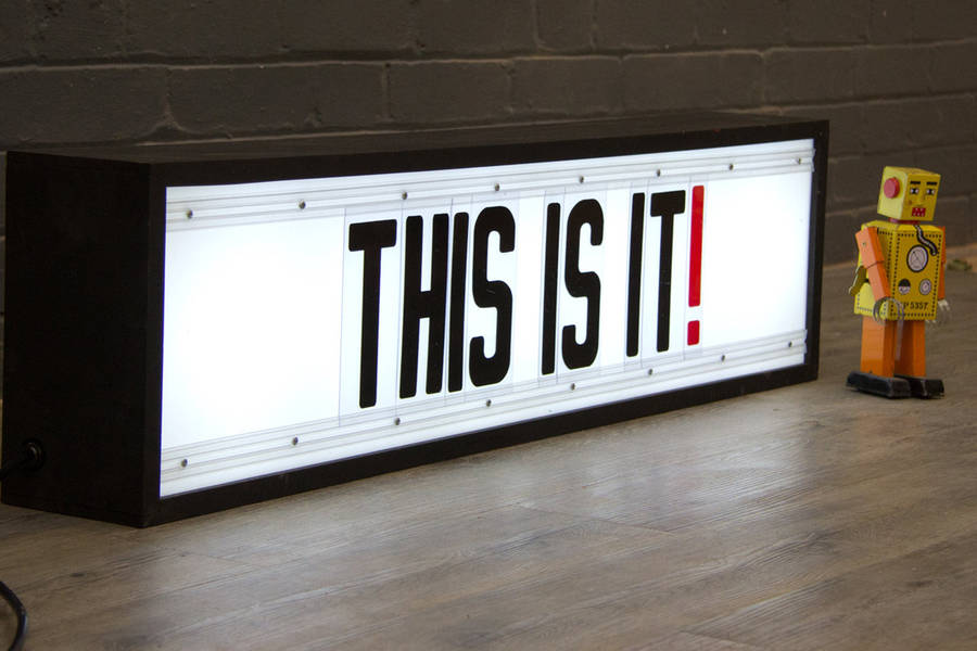 how to make a light box sign