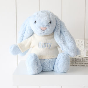 Personalised Blue Bashful Bunny - toys & games