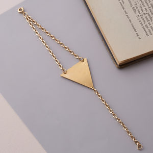 Asymmetric Gold Chain Triangle Bracelet - women's sale