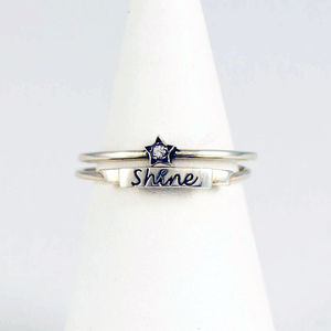 'Shine' And Star Stacking Ring Set - 18th birthday gifts