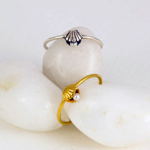 Shell And Pearl Ring - rings
