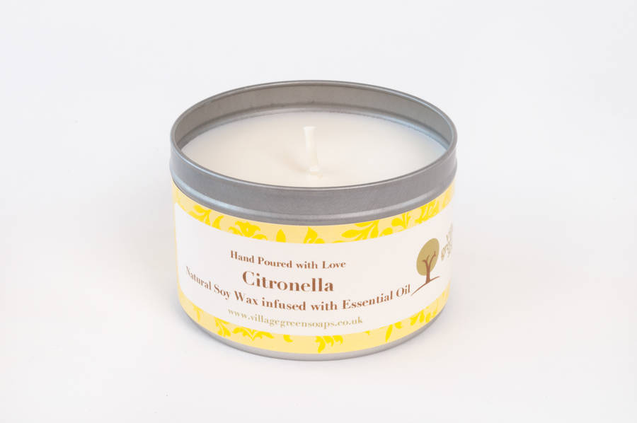 Citronella Essential Oil Candle Tin