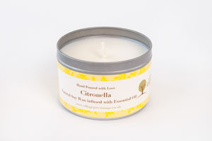 Citronella Essential Oil Candle Tin - dining room