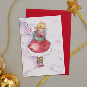Pack Of Eight Christmas Cards. Two Designs