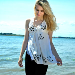 Silk And Bamboo Hand Printed Camisole - summer clothing
