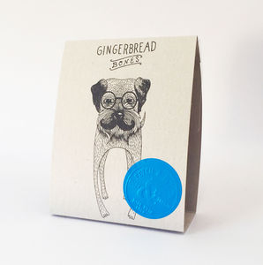 Natural Gingerbread Bones Dog Treats - dogs