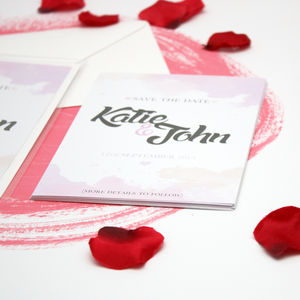 Personalised Save The Date Invites
