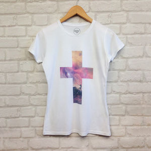 Women's Surfer Cross Graphic Printed T Shirt