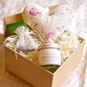 Lavender Cream Gift Box - gift sets