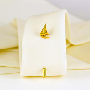 Sail Boat Tie Pin - pins & brooches