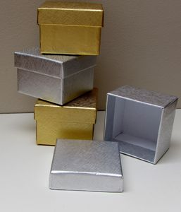 Pack Of Six Rigid Gold Or Silver Gift Boxes - gift boxes