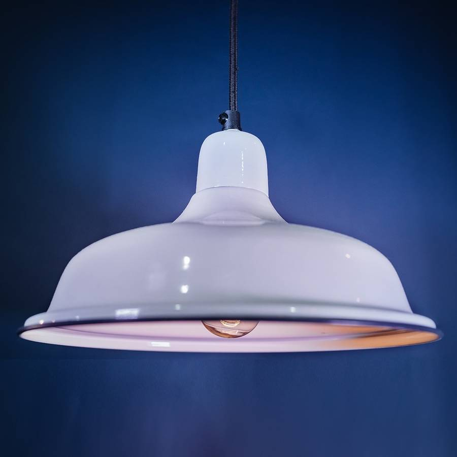 small aldgate white pendant light by the house