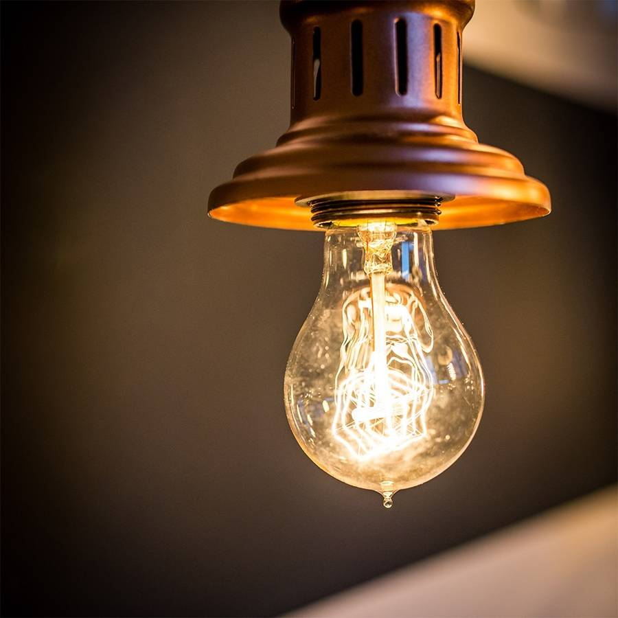 Small Globe Filament Light Bulb By The Little House Shop