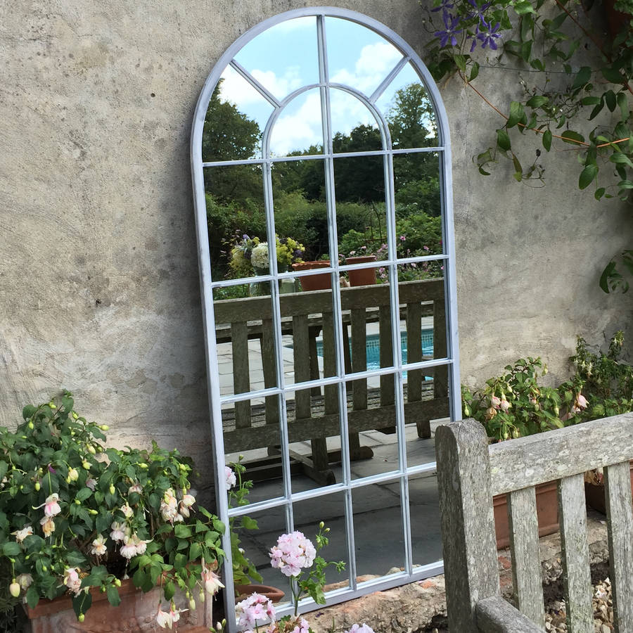 Outdoor arched window mirror by all things brighton for Window mirror