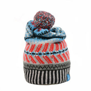 Howitt Schwing Lambswool Beanie Grey - hats, scarves & gloves