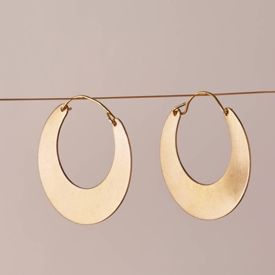 6905833b6e853 Moon Hoop Earrings