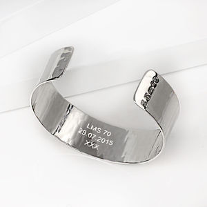Personalised Silver Cuff - what's new