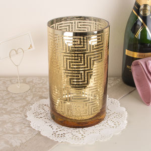 Gold Aztec Candle Holder