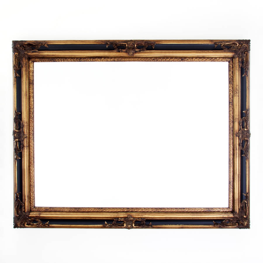 classic ornate black and gold mirror by decorative mirrors ...