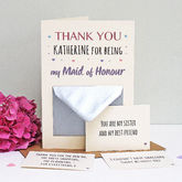 Maid Of Honour Thank You Secret Messages Card - cards