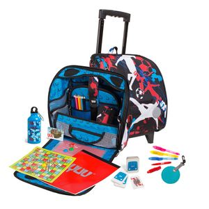Children's Football Design Backpack On Wheels