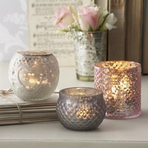 Lustre Tea Light Holders Set Of Three - kitchen