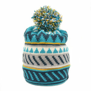 Cormack Striangles Merino Wool Beanie Turquoise - hats, scarves & gloves