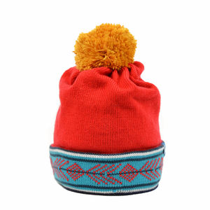 Arthur Contrast Blast Merino Wool Beanie Red - wooly winter warmers