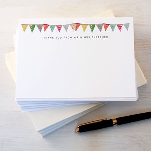 Personalised Wedding Thank You Cards - wedding stationery