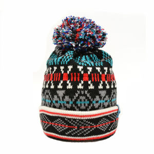 Arthur Wagga Merino Wool Beanie Space Invader - hats, scarves & gloves