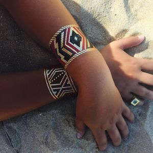 Azzy Aztec Temporary Metallic Tattoo Bracelets - summer beauty & toiletries