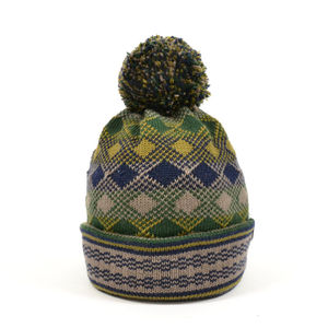 Arthur Diamonite Merino Wool Beanie Green - hats, scarves & gloves