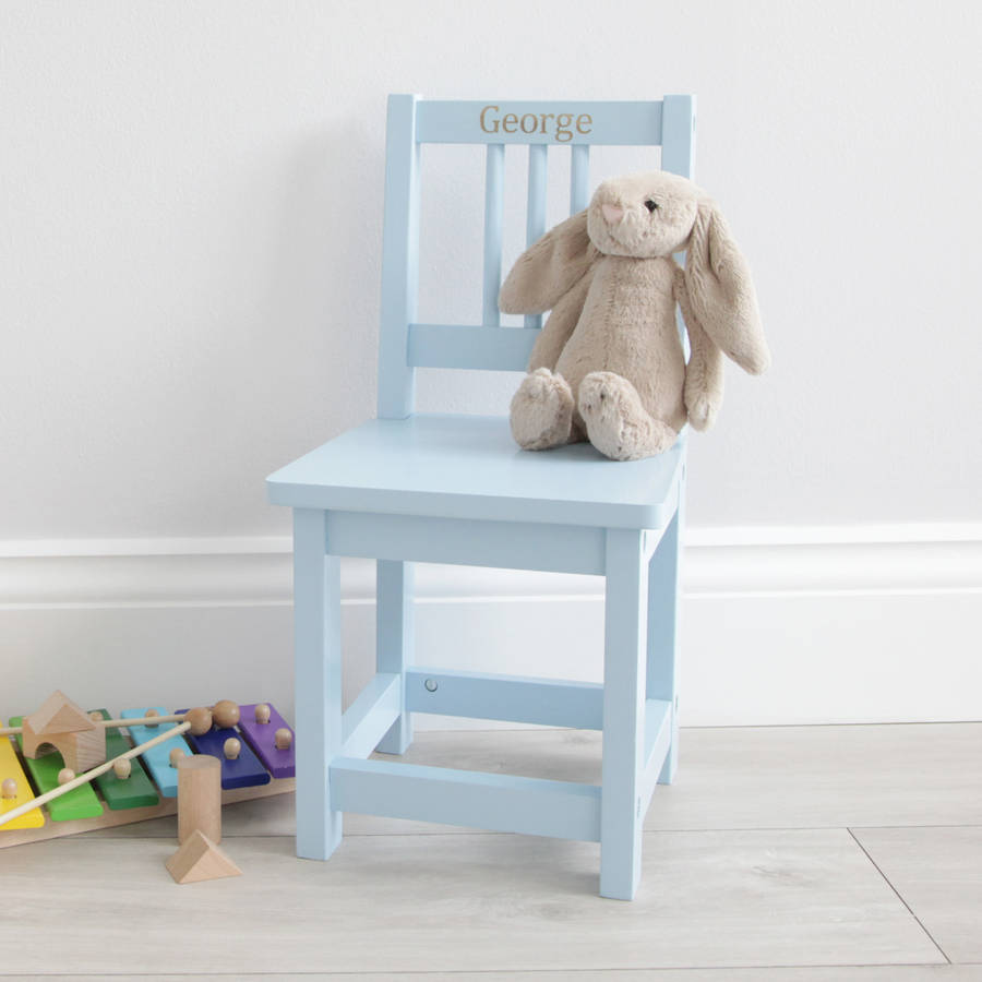 personalised blue wooden childrenu0026#39;s chair by my 1st years : notonthehighstreet.com