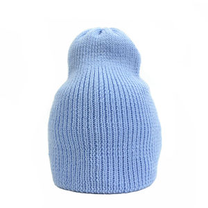 Bowen Merino Wool Slouch Beanie Sky - women's accessories