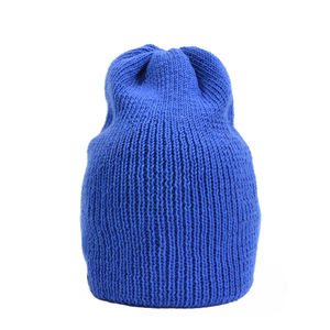 Bowen Merino Wool Slouch Beanie Royal - hats