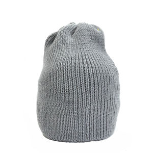 Bowen Merino Wool Slouch Beanie Grey - men's accessories