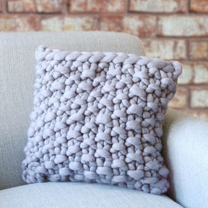 Cullompton Classic Chunky Knitted Panel Cushion - feeling cosy - hygge home ideas