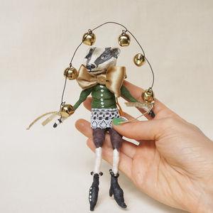 Badger Spun Cotton Art Doll Ornament