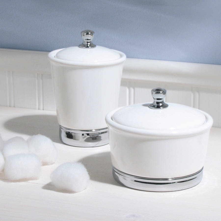 White soap dispenser and matching bathroom accessories by for Matching bathroom accessories sets