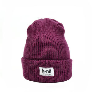 Bowen Merino Wool Turn Up Beanie Garnet - women's accessories