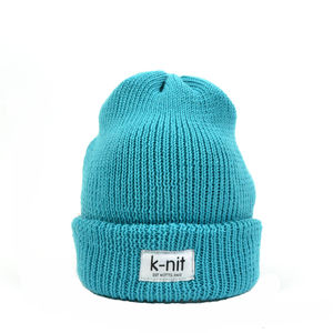 Bowen Merino Wool Turn Up Beanie Turquoise - hats, scarves & gloves