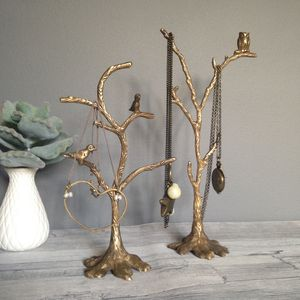 Bronze Autumn Jewellery Stand Featuring Birds Or Owl - women's sale