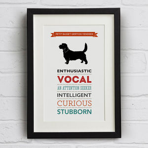 Petit Basset Griffon Vendeen Dog Breed Traits Print