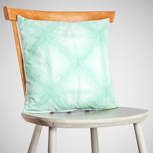 Shibori Diamond Cushion - cushions