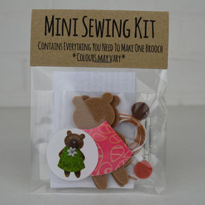 Mini Bear Brooch Sewing Kit